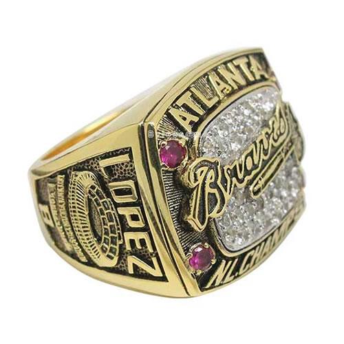 championship-ring-atlanta-braves-1996-javy-lopez