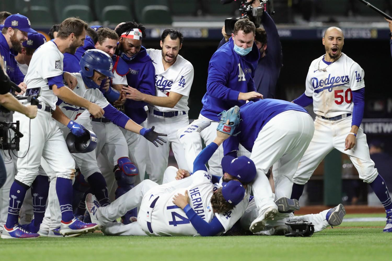 2020 World Series win in Arlington, Texas