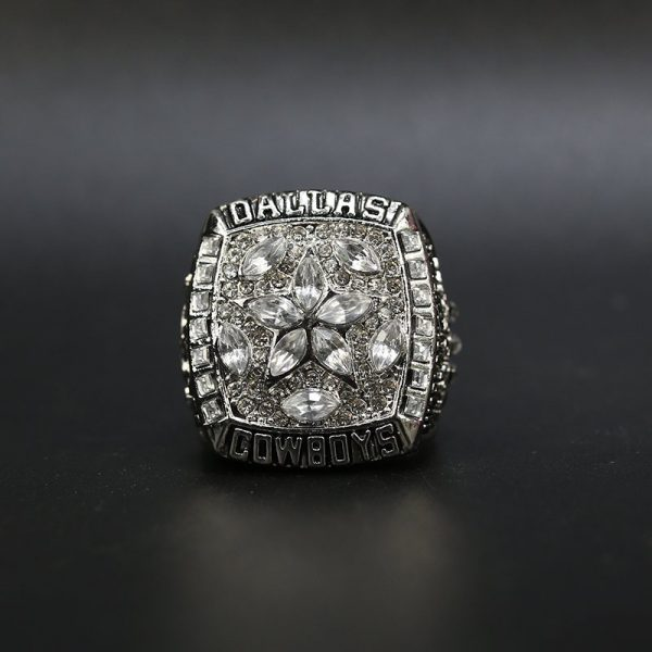 NFL Dallas Cowboys Super Bowl Championship Ring 1995 Silver Troy Aikman