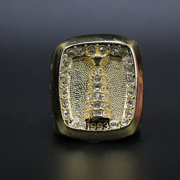 NHL Montreal Canadiens  Stanley Cup Championship Ring 1993 Patrick Roy