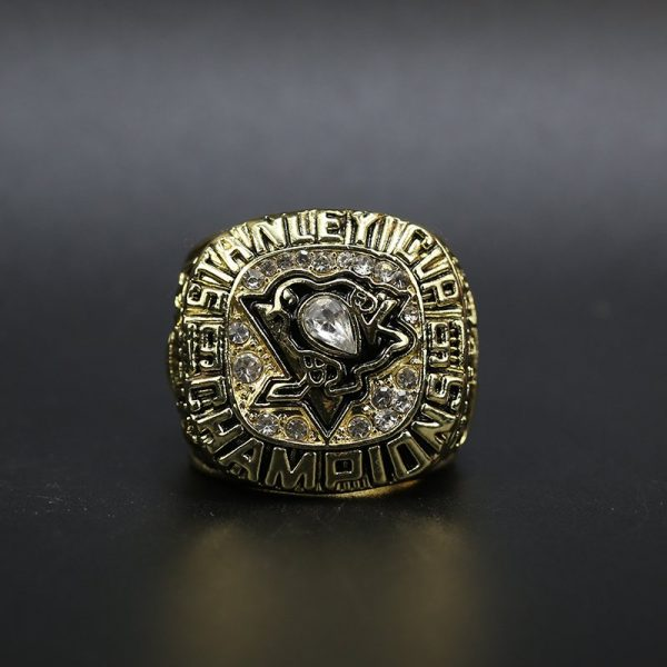 NHL Pittsburgh Penguins  Stanley Cup Championship Ring 1991 Mario Lemieux