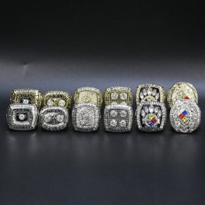 12 Set Championship Rings NFL Pittsburgh Steelers 1974-2008 Gold and Silver