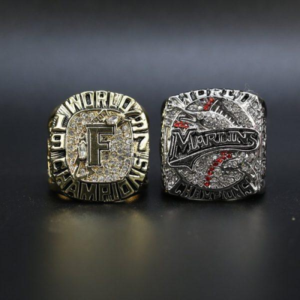 2 Set Championship Rings MLB Miami Marlins 1997-2003