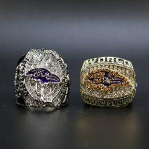 2 Set Championship Rings NFL Baltimore Ravens 2000-2012