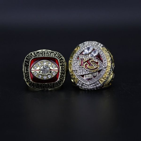2 Set Championship Rings NFL Kansas City Chiefs 1969-2019