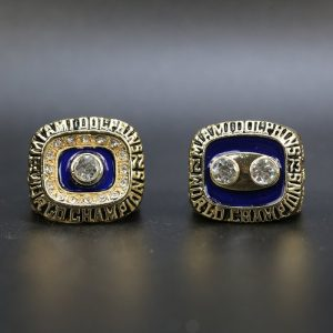 2 Set Championship Rings NFL Miami Dolphins 1972-1973