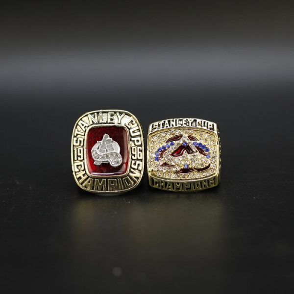 2 Set Championship Rings NHL Colorado Avalanche 1996-2001
