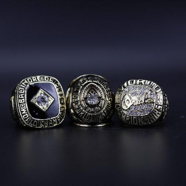3 Set Championship Rings MLB Baltimore Orioles 1966-1983