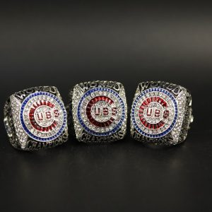 3 Set Championship Rings MLB Chicago Cubs 2016