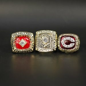 3 Set Championship Rings MLB Cincinnati Reds 1975-1990