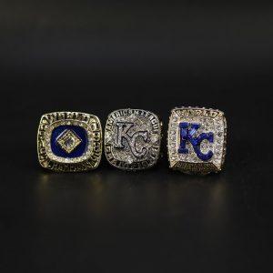 3 Set Championship Rings MLB Kansas City Royal 1985-2015