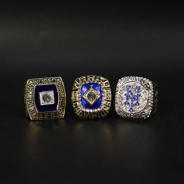 3 Set Championship Rings MLB New York Mets 1969-2015