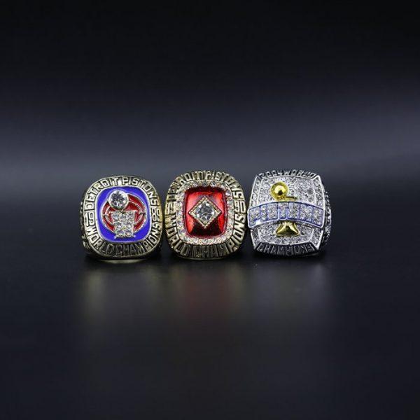 3 Set Championship Rings NBA Detroit Pistons 1989-2004