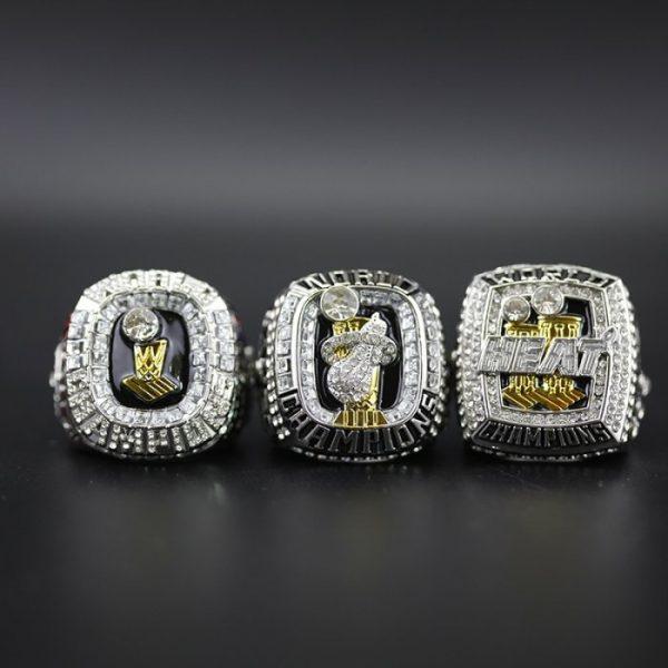 3 Set Championship Rings NBA Miami Heat 2006-2013