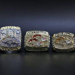 3 Set Championship Rings NFL Denver Broncos 1997-2015