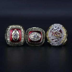 3 Set Championship Rings NFL Kansas City Chiefs 1966-2019