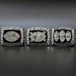 3 Set Championship Rings NFL Los Angeles Raiders 1976-1983