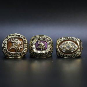 3 Set Championship Rings NFL Minnesota Vikings 1973-1976