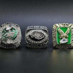3 Set Championship Rings NFL Philadelphia Eagles 1980-2017