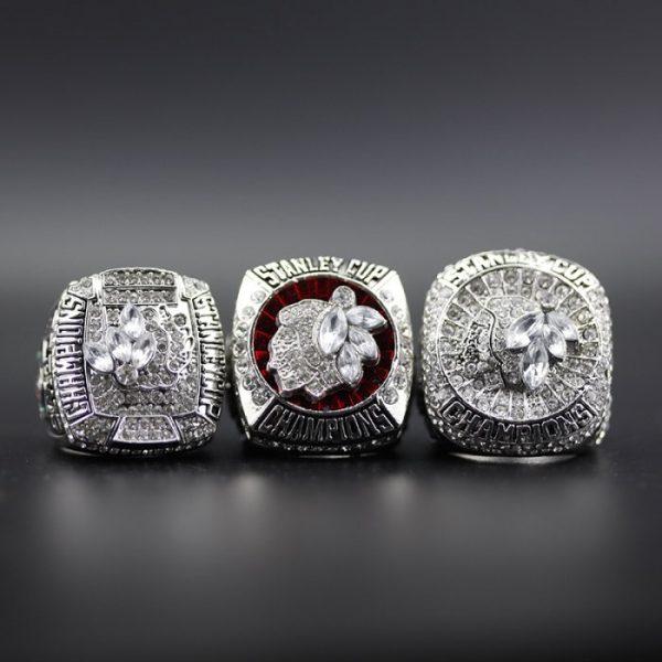 3 Set Championship Rings NHL Chicago Blackhawks 2010-2015