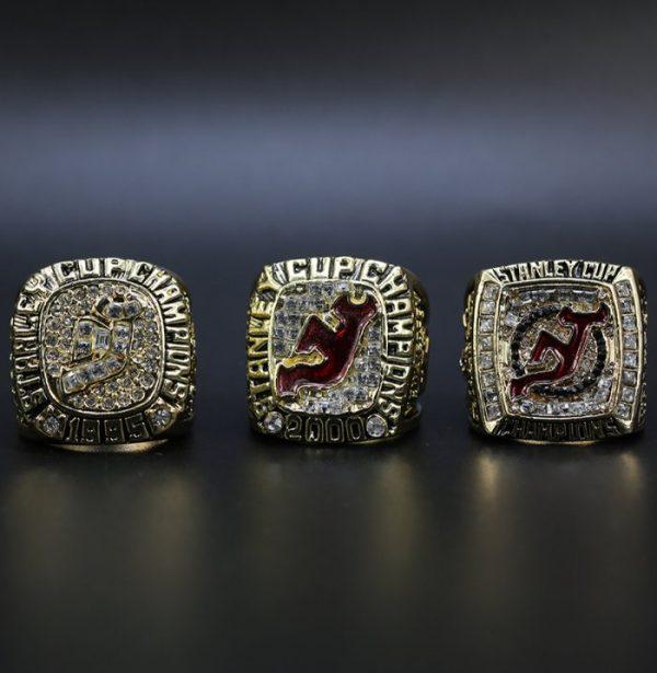 3 Set Championship Rings NHL New Jersey Devils 1995-2003