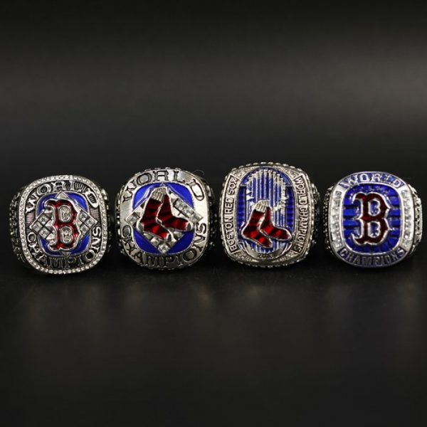 4 Set Championship Rings MLB Boston Red Socks 2004-2018