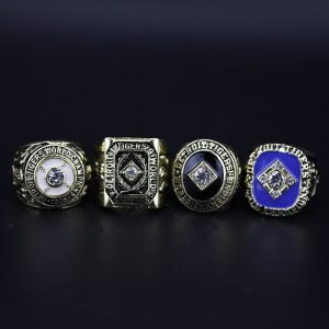 4 Set Championship Rings MLB Detroit tigers 1935-1984