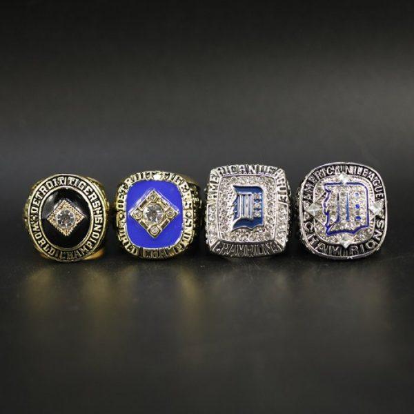 4 Set Championship Rings MLB Detroit tigers 1968-2012