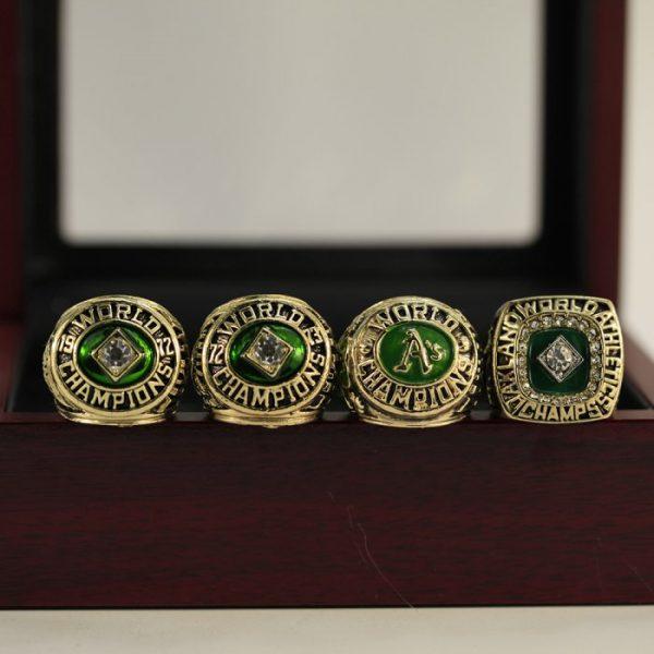4 Set Championship Rings MLB Oakland Athletics 1972-1989