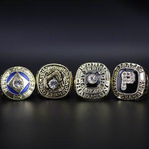 4 Set Championship Rings MLB Pittsburgh Pirates 1909-1979