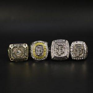 4 Set Championship Rings MLB San Francisco Giants 1954-2014