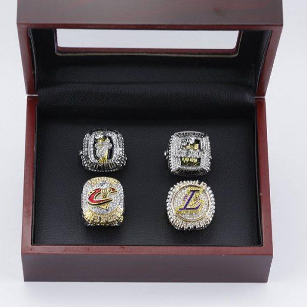 4 Set Championship Rings NBA LeBron James 2012 2013 2016 2020