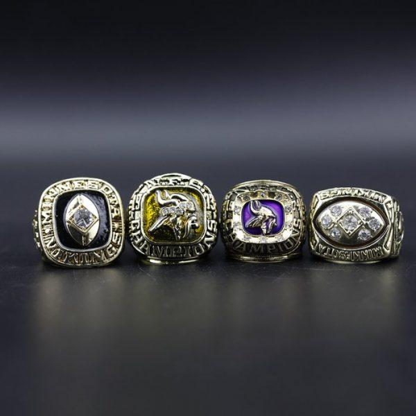 4 Set Championship Rings NFL Minnesota Vikings 1969-1976
