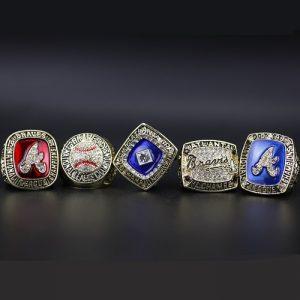 5 Set Championship Rings MLB Atlanta braves 1991-1999