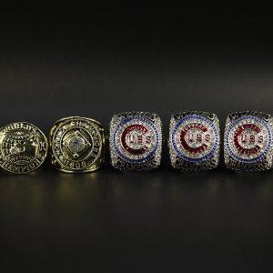 5 Set Championship Rings MLB Chicago Cubs 1907-2016