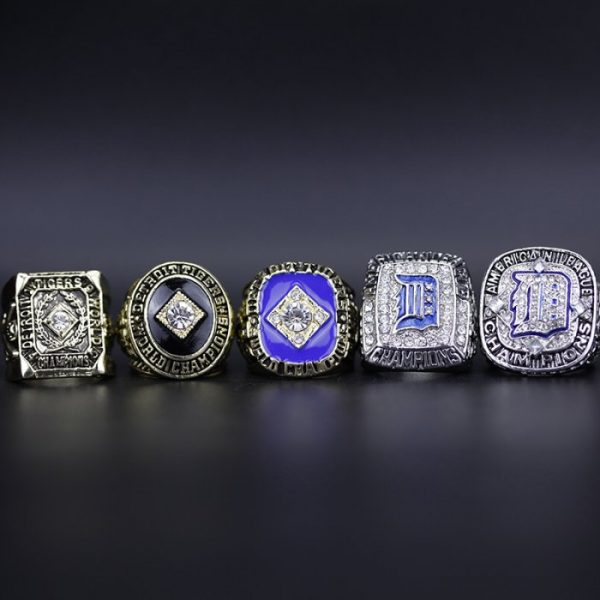 5 Set Championship Rings MLB Detroit tigers 1945-2012