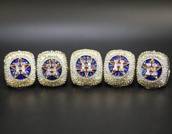 5 Set Championship Rings MLB Houston Astros 2017