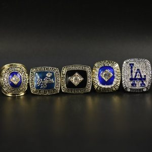 5 Set Championship Rings MLB Los Angeles Dodgers 1965-2017