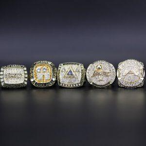 5 Set Championship Rings NBA Los Angeles Lakers 2000-2010