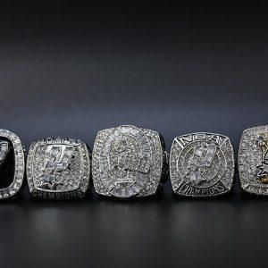 5 Set Championship Rings NBA San Antonio Spurs 1999-2014