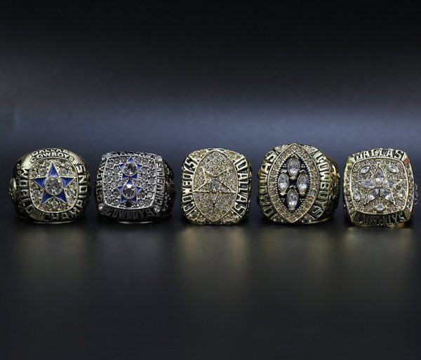 5 Set Championship Rings NFL Dallas Cowboys 1971-1995