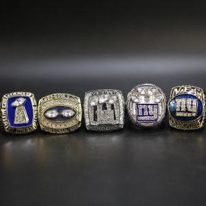 5 Set Championship Rings NFL New York Giants 1986-2011
