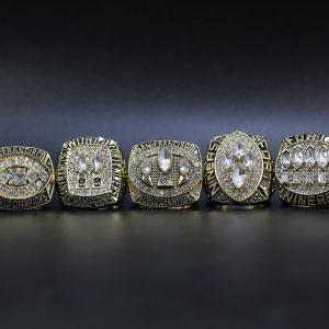 5 Set Championship Rings NFL San Francisco 49ers 1981-1994