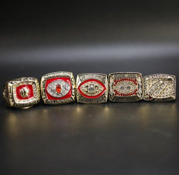 5 Set Championship Rings NFL Washington Redskins 1972-1991