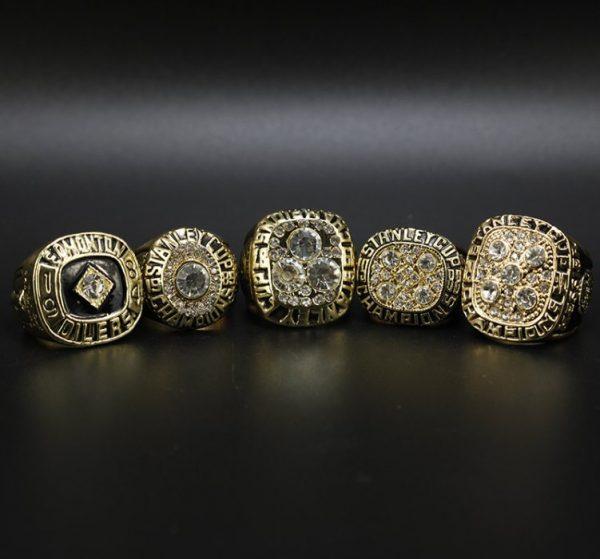 5 Set Championship Rings NHL Edmonton Oilers 1984-1990