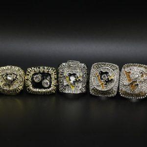 5 Set Championship Rings NHL Pittsburgh Penguins 1991-2017