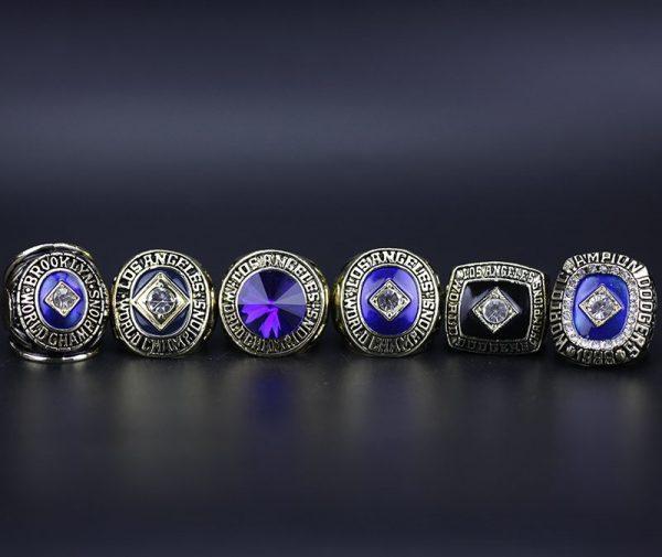 6 Set Championship Rings MLB Los Angeles Dodgers 1955-1988
