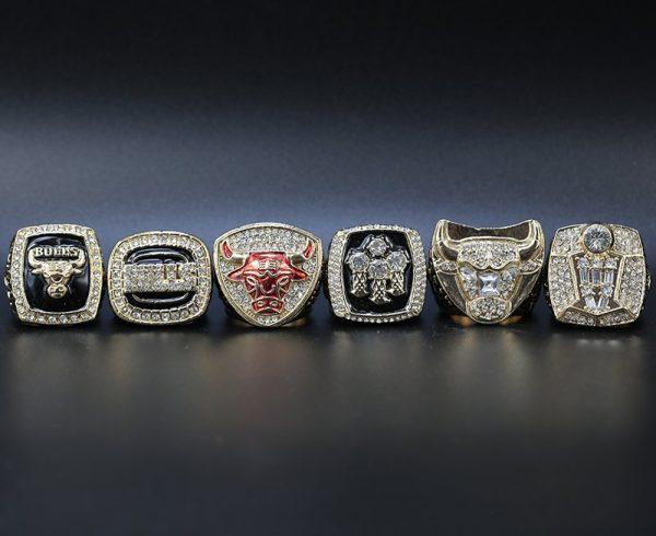 6 Set Championship Rings NBA Chicago Bulls 1991-1998