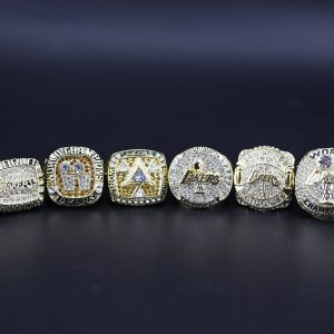 6 Set Championship Rings NBA Los Angeles Lakers 2000-2016 Kobe Retirement