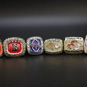 6 Set Championship Rings NFL Denver Broncos 1979-2015